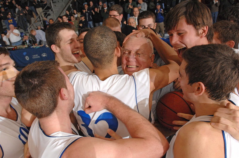 He was the head of the Colby basketball family for 40 years, the man who forged relationships as well as winning teams. So when Dick Whitmore won the 600th of his 637 victories two years ago, Adam Choice and his teammates, as well as fans, paid him homage.