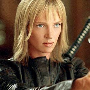 Sword-wielding Uma Thurman was bent on revenge in Quentin Tarrantino's