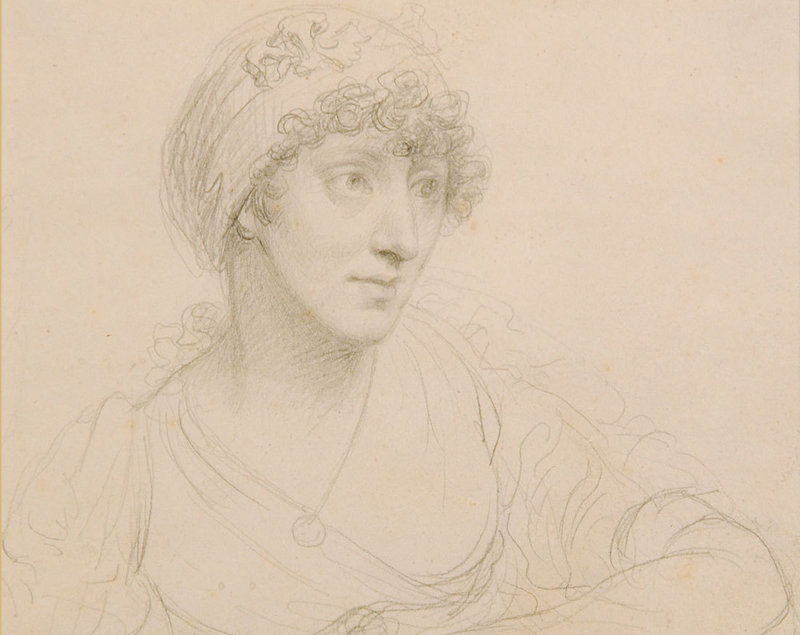 """""""Mind to Hand: Drawings from the Farnsworth,"""" which includes John Trumbull's circa 1803 pencil """"Portrait of the Artist's Wife,"""" continues through April 3 at the Farnsworth Art Museum in Rockland."""