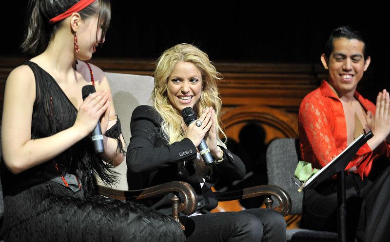 Shakira, center.