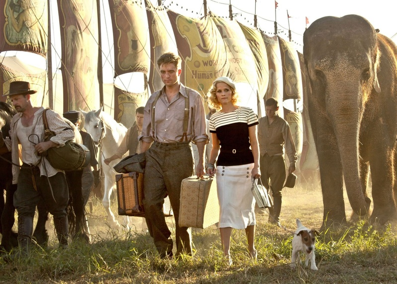 """Reese Witherspoon, with co-star Robert Pattinson, summoned up the nerve to ride Tai, the 9-ton elephant, without a harness. """"It was pretty great."""""""
