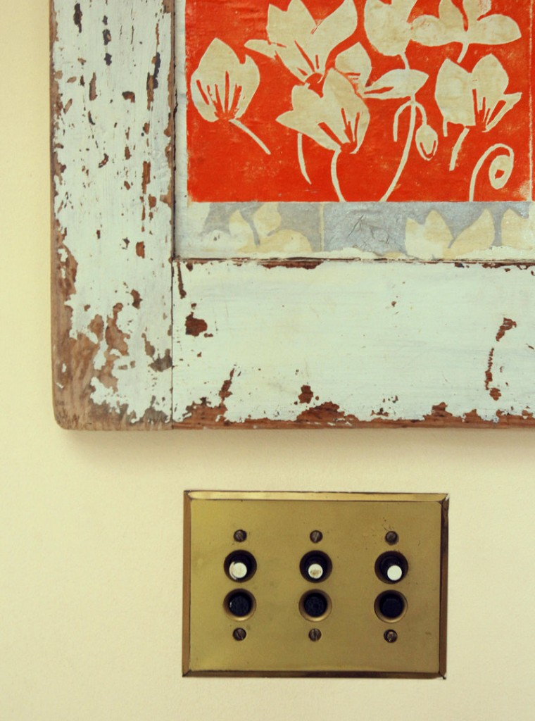 Old push-button light switches.