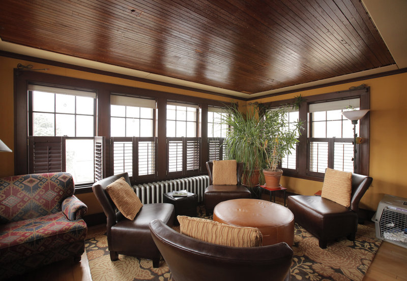 The sunroom, the owners' favorite space.