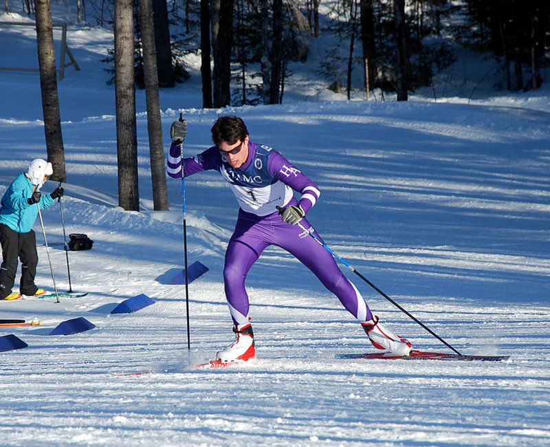 Ethan Burke used to consider himself an Alpine skier who dabbled in Nordic events, but this winter he evolved into a top contender in both disciplines.