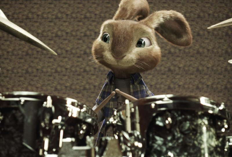 The Easter bunny, voiced by Russell Brand, marches to the beat of a different drummer in