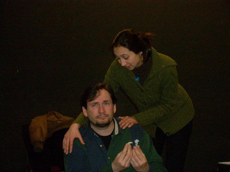 "Bill McLean and Amanda Painter in ""The Perfect Joe."""