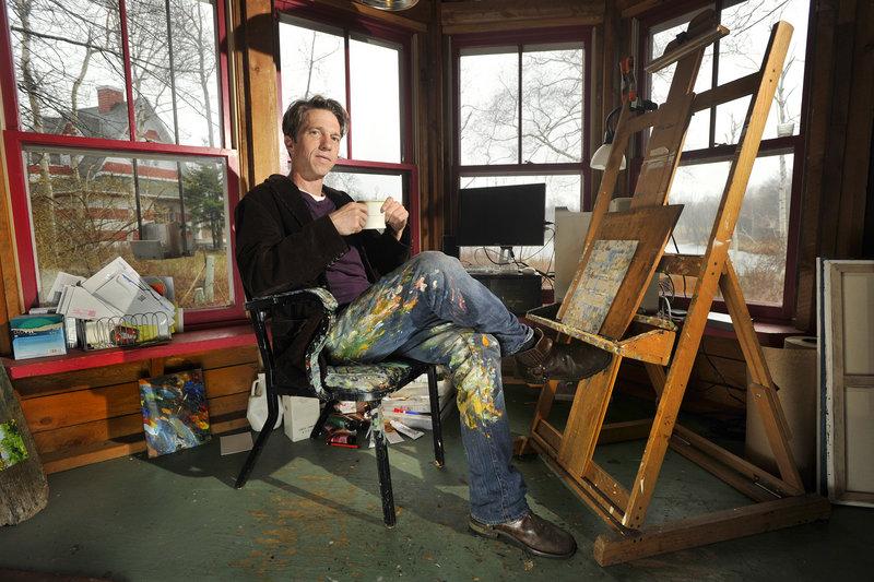 Paul Brahms in his Peaks Island studio.