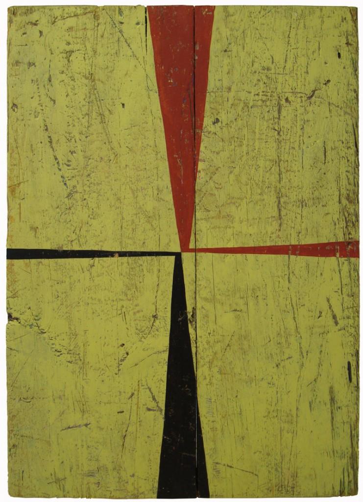"""""""Kwazy Wabbit,"""" acrylic on wood panel by Mark Wethli."""