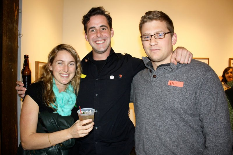Space board member Chelsea DeLorme, Alex Steed and Noah DeLorme.