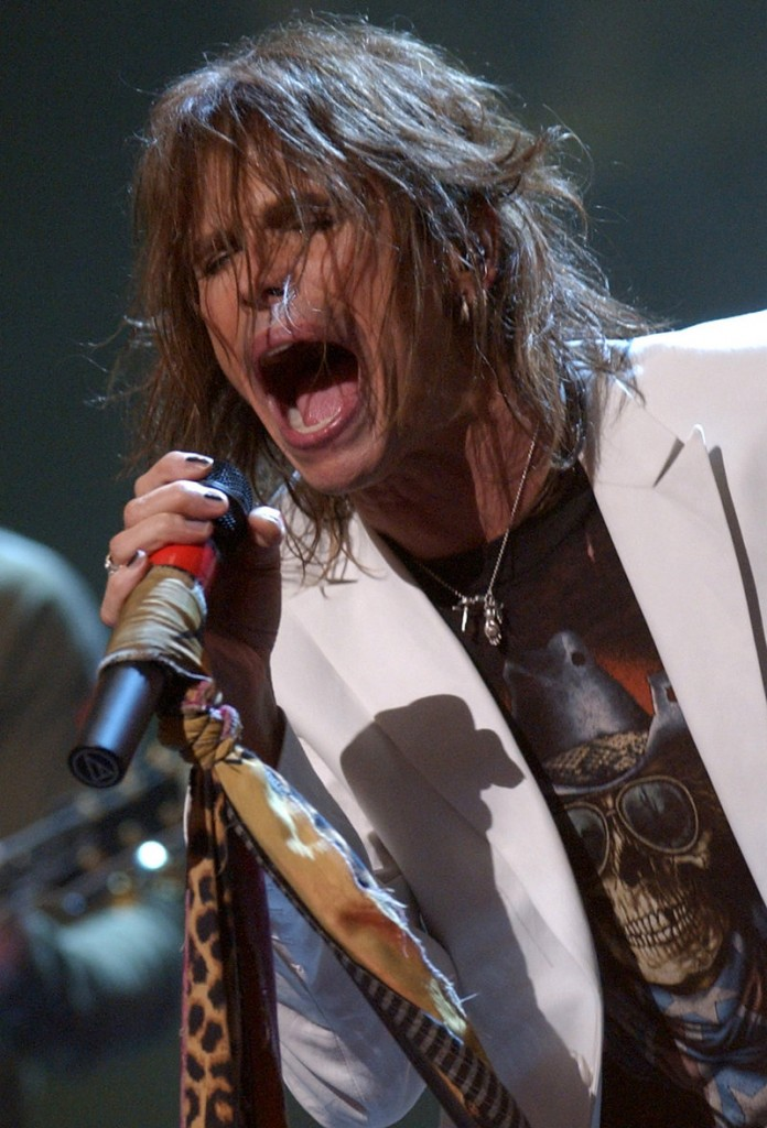 Steven Tyler, lead singer for Aerosmith, performs at MTV's 2002 tribute to the rock band.