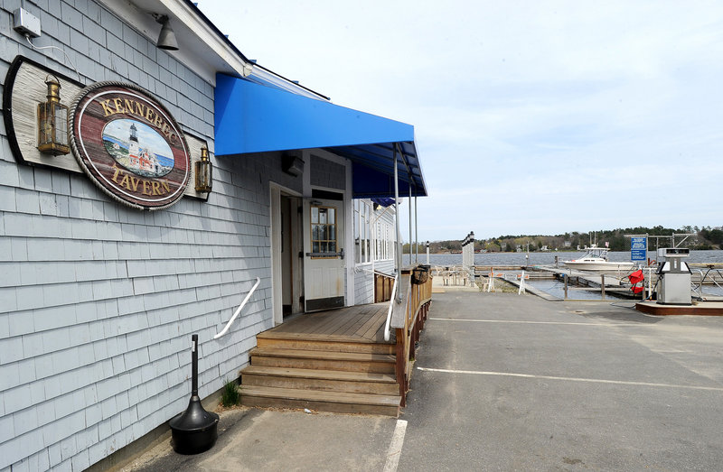 The Kennebec Tavern is located adjacent to the river in Bath.