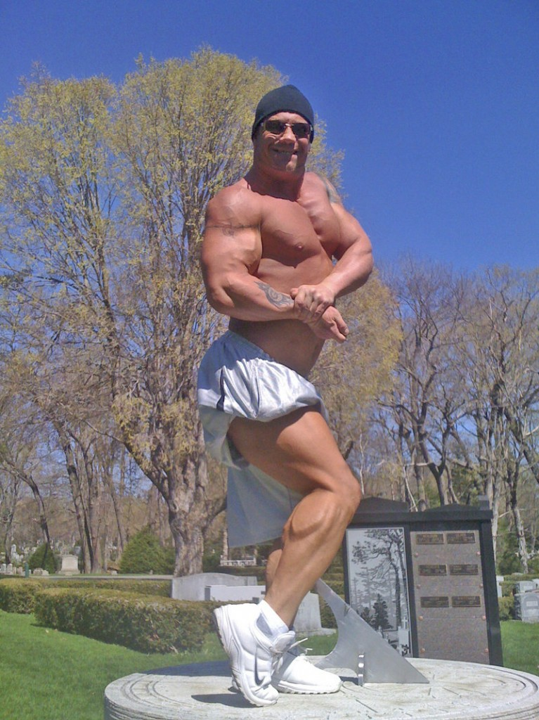 Rudy Oberzan of Saco never gave up after it appeared his competitive bodybuilding days were over because of an auto accident, and will compete Sunday in Boston.
