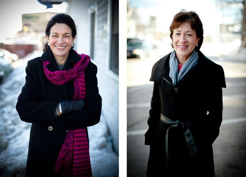 Maine Republican Sens. Olympia Snowe, left, and Susan Collins