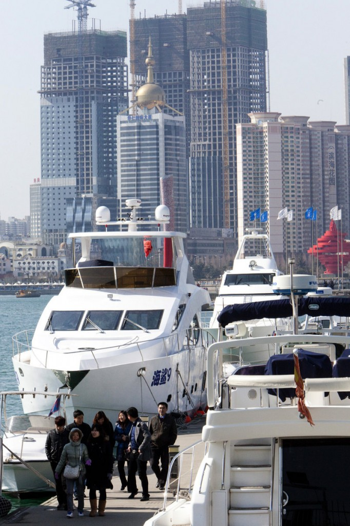 China's rapidly increasing wealth is driving demand for vessels from dinghies to yachts.