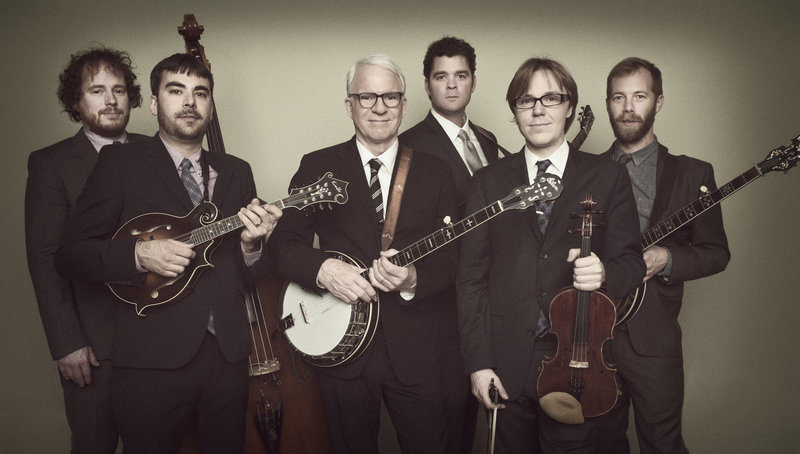 Perhaps best known as a comic, actor and writer, Steve Martin is also a Grammy-winning bluegrass banjo player. He's pictured above with The Steep Canyon Rangers.