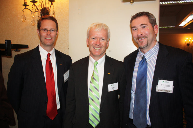 Board member Steve deCastro of Key Bank, Chip Kelley of Key Bank and board member Darren Hulburt, of Maine Education Services.