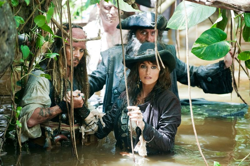 Capt. Jack Sparrow joins Angelica (Penelope Cruz) and Blackbeard (Ian McShane) in search of the Fountain of Youth in