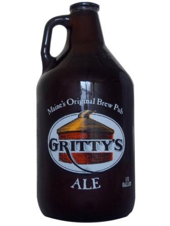 Gritty's growlers are half-gallon containers for $15.99, with each refill $11.99.