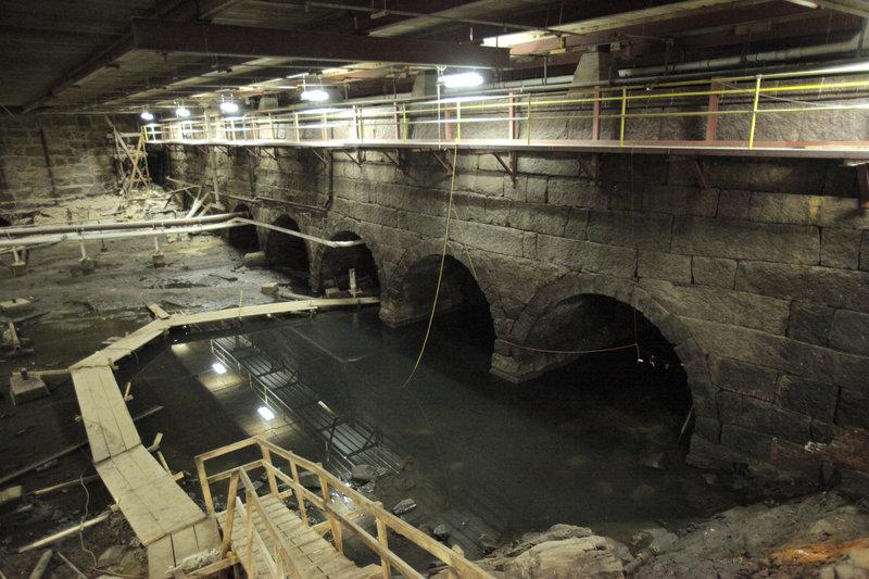 The hidden lagoon under the No. 10 Mill