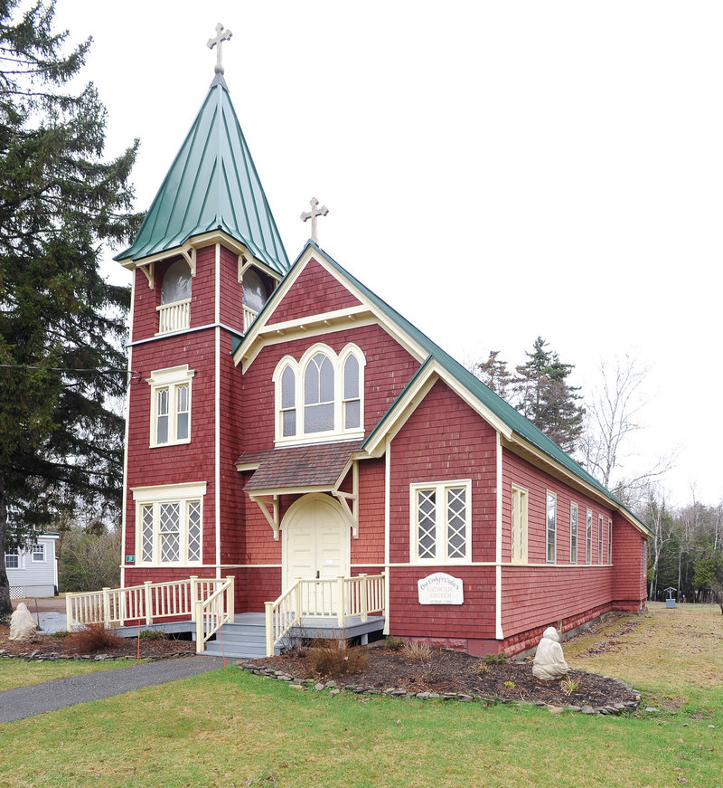 Cornelia Crosby helped build Her Lady of the Lakes church in Oquossoc.