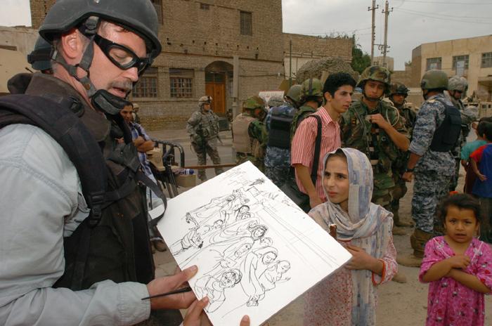 Steve Mumford in Iraq.
