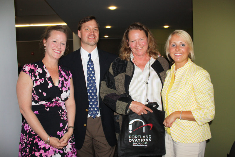 Executive Director Aimee Petrin, Marketing Director Chip Kibort, board member Mary Noyes and board member April Ylvisaker.