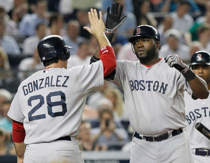 Adrian Gonzalez (RBI triple) and David Ortiz (two-run homer) helped Boston to 6-4 victory Tuesday for a sixth win in seven games against the Yanks so far this season.