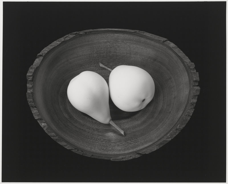 """By Paul Caponigro: """"Two Pears, Cushing, Maine,"""" 1999."""