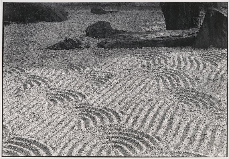 "By Paul Caponigro: ""Sand Garden, Tofukuji Temple, Kyoto, Japan,"" 1976."