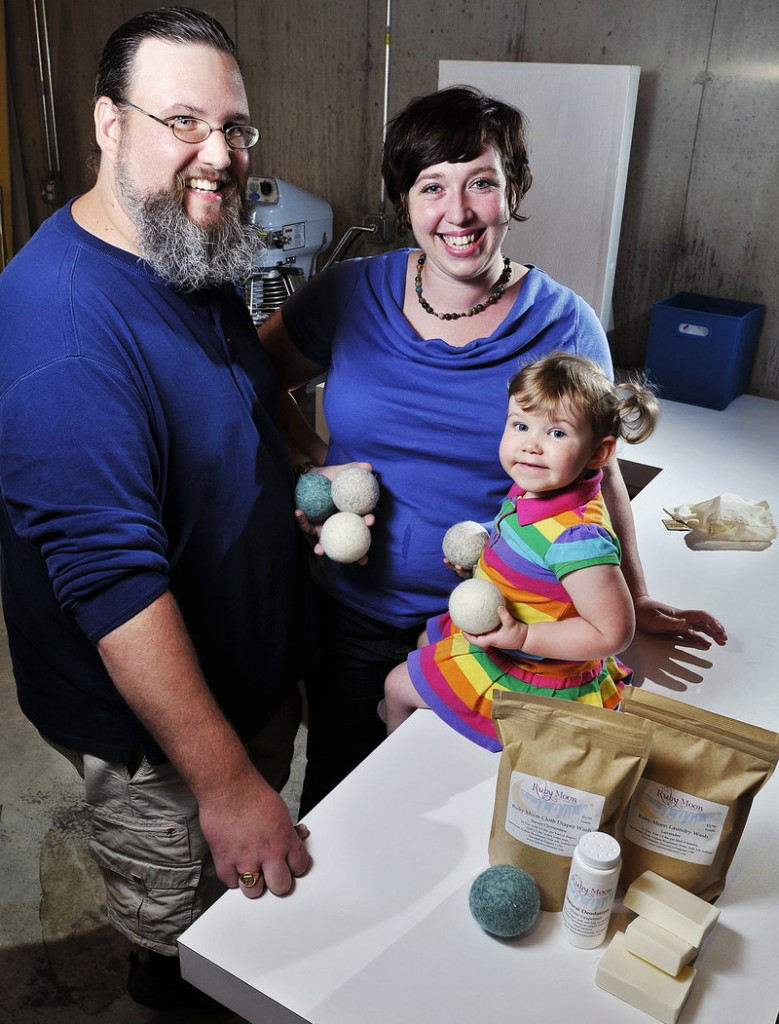 Doug and Lyndsay Sanborn's startup company, Ruby Moon, makes all-natural laundry detergent. The company, named after daughter Ruby, is benefiting from its ties to USM's Campus Ventures program.