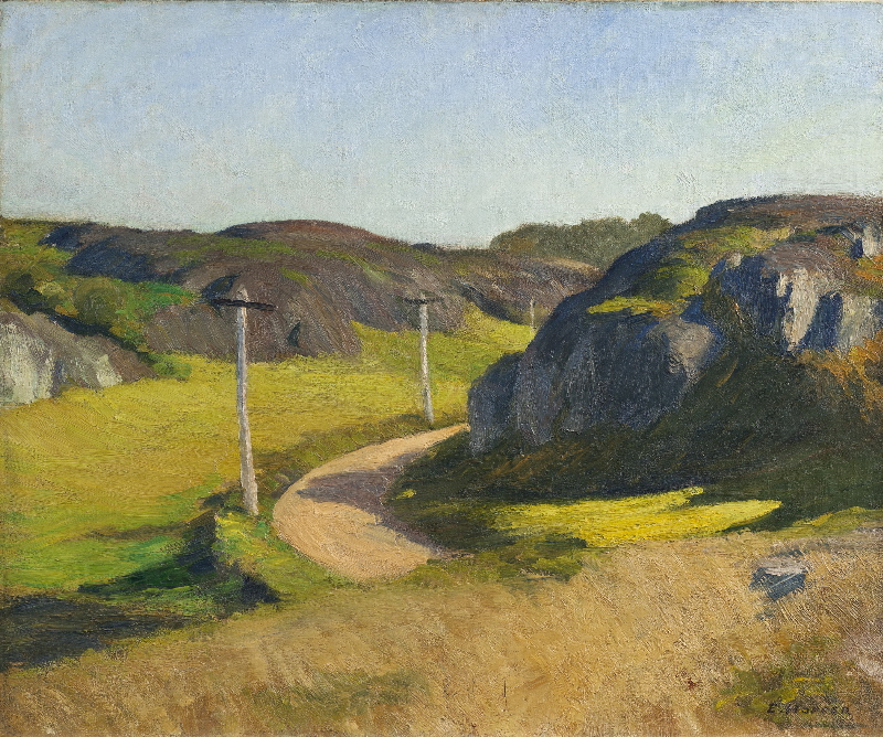 """Road in Maine,""oil on canvas, 1914"