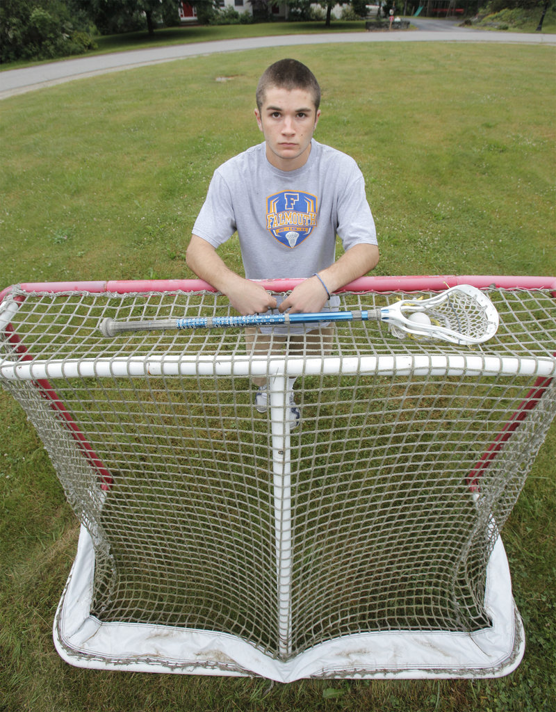 Mitch Tapley of Falmouth has 70 goals and 61 assists for his three years at Falmouth, and was one of the eight All-Americans named to the All-State boys' lacrosse team.
