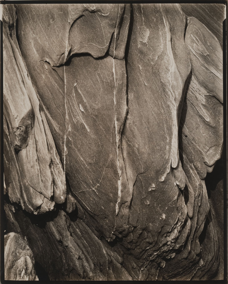"""""""Rock, Georgetown, Maine,"""" gelatin silver print by Paul Strand, at the Portland Museum of Art."""