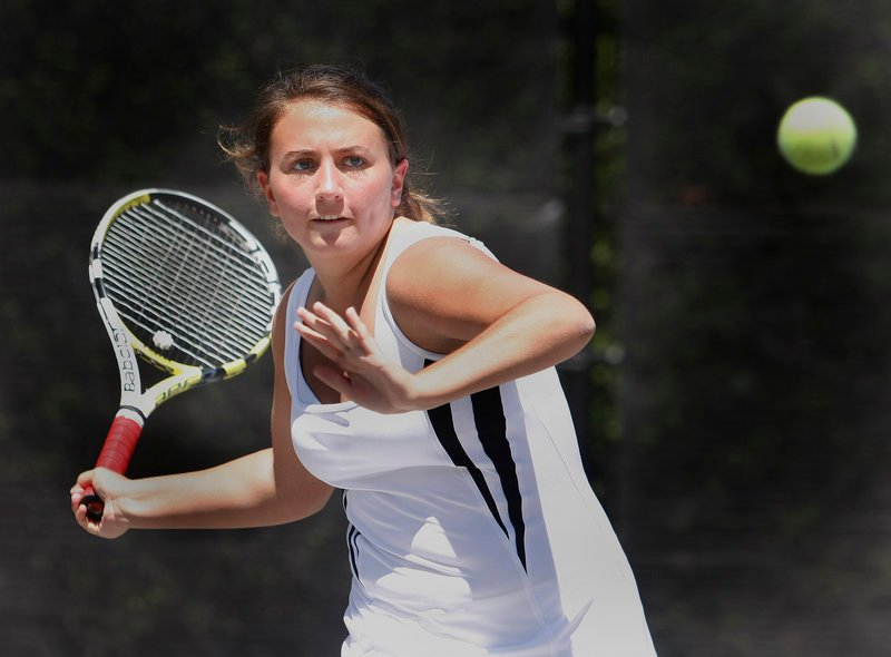 Maria Varano had a huge impact on the Kennebunk High team this spring, her first as a high school player. Coach Paul Gaylord says she elevated the whole team's level of play.