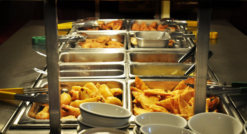 The lunch buffet at Asia Restaurant in South Portland offers choices from soup and appetizers to dessert for $7.50.