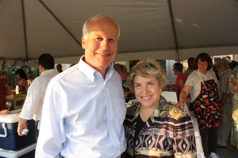 Board member Daniel Haney and his wife, Susan Haney, who summer in East Boothbay and whose name graces the new Haney Hillside Garden.