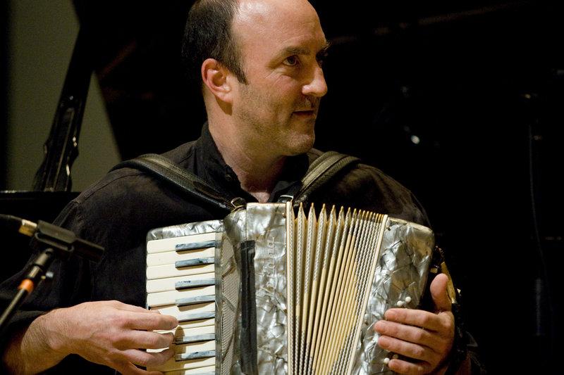 Composer Peter Jones demonstrates the festival musicians' versatility.