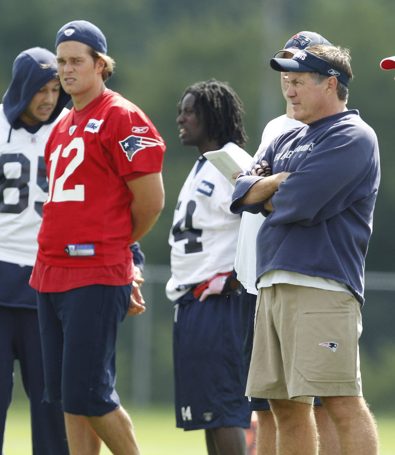 They have a lot to pack into this training camp because of the lockout, but Coach Bill Belichick, right, and quarterback Tom Brady are ready to get the preseason under way.