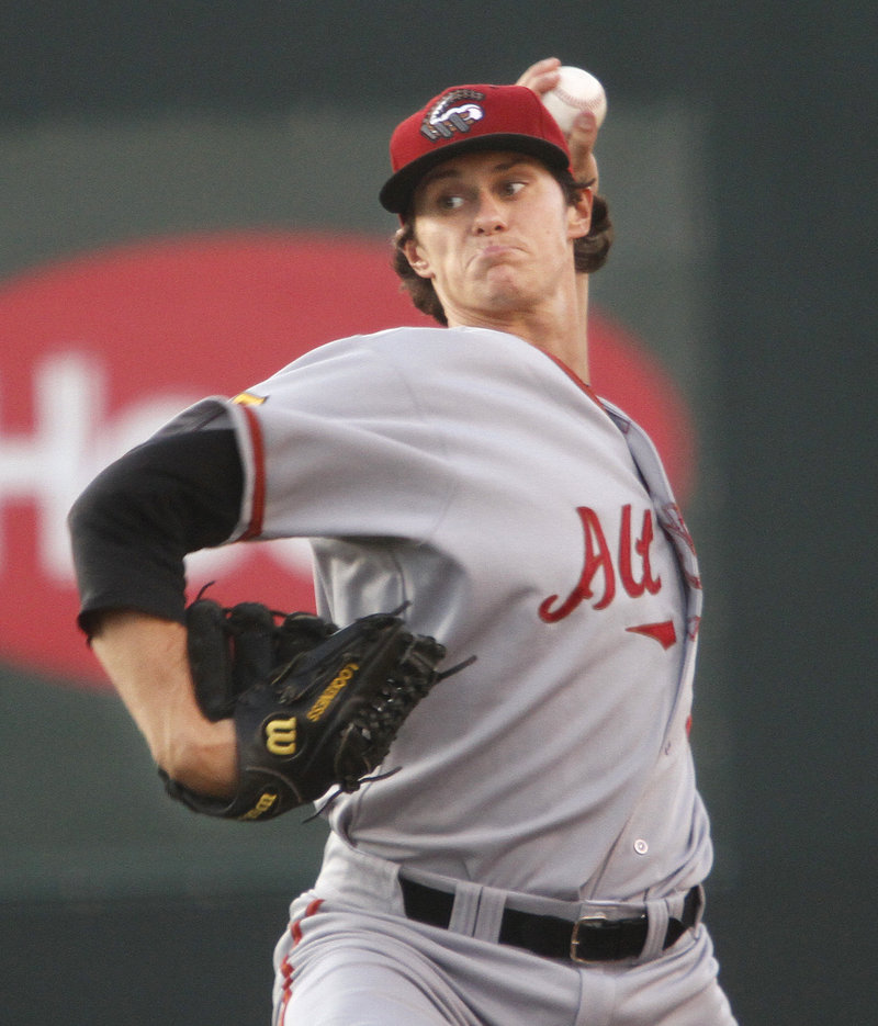 Jeff Locke, a native of North Conway, N.H., lasted five innings as the Altoona starter, allowing three runs on six hits. He walked one and struck out four.