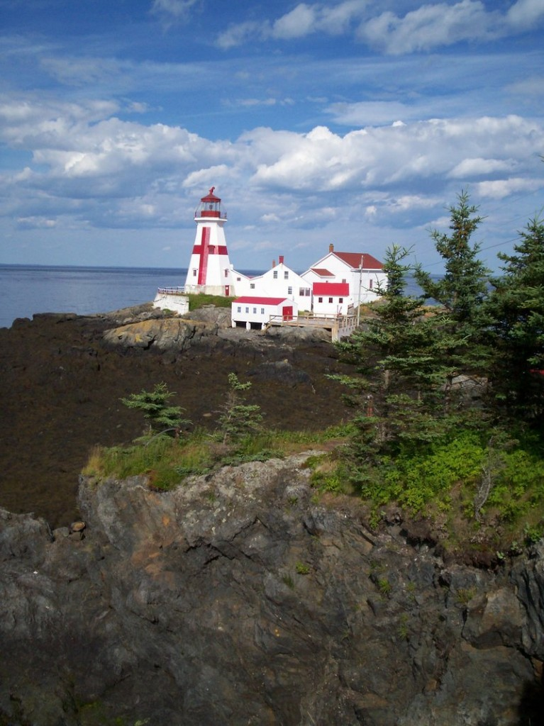 East Quoddy Head lighthouse is accessible only around low tide.