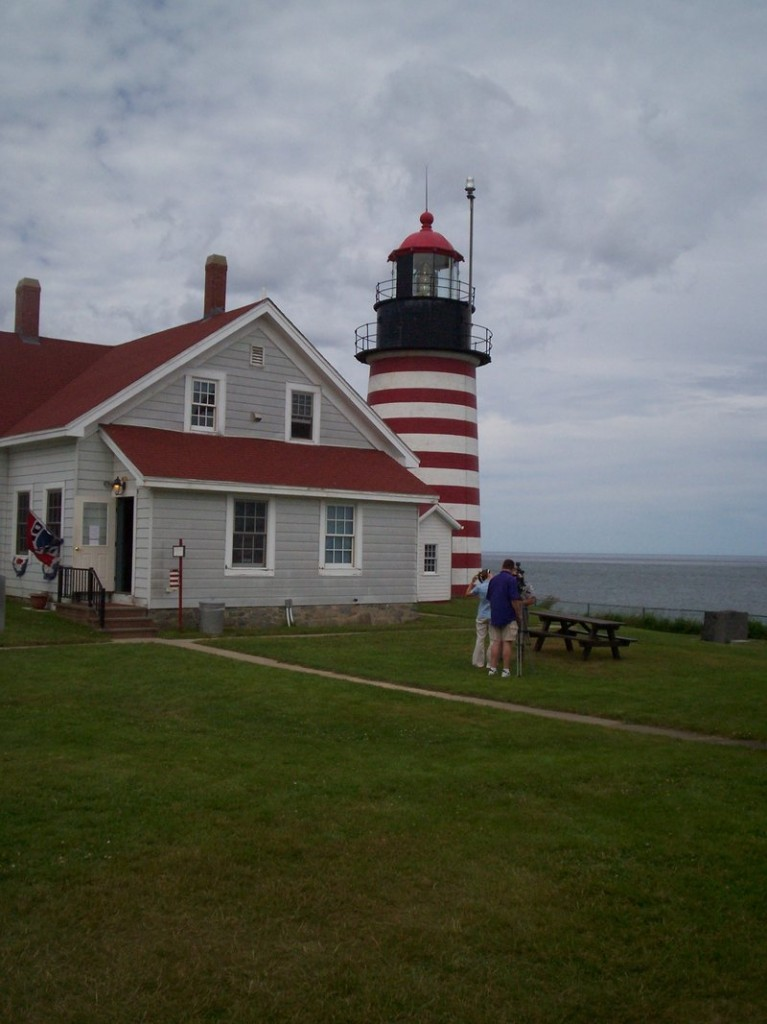The famed West Quoddy Head lighthouse is perched on America's easternmost point of land.