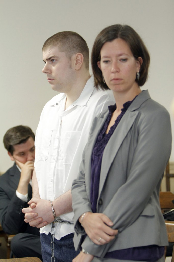 Robert Copley appears Wednesday with his court-appointed attorney, Sarah Churchill, right, in York County Superior Court in Alfred, where a murder charge against him was dropped.Churchill says her client, who falsely confessed to killing Frances Moulton, did not fully grasp what it meant to confess, and there were reasons to doubt his statements from the start.
