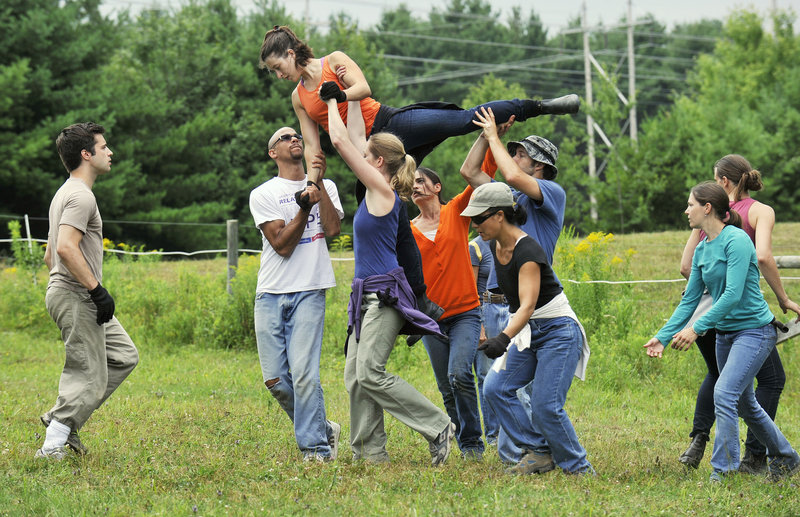 A herd of dancers rehearses last week for a performance of