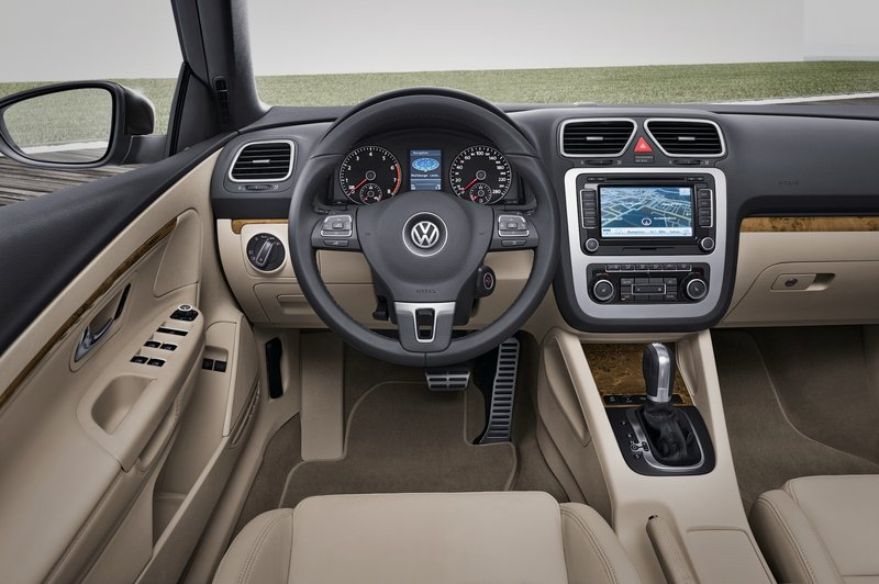 Volkswagen's customary refinement is evident in the interior of the Eos, along with many high-tech features.