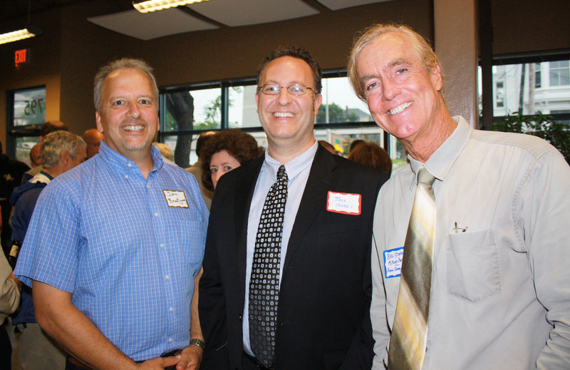 John Brautigam, director of Sustainability and Energy Alternatives Center at Southern Maine Community College; Jeff Marks, deputy director of policy and planning for the Governor's Office of Energy Independence and Security; and Bill Strauss, director of Maine Energy Systems.