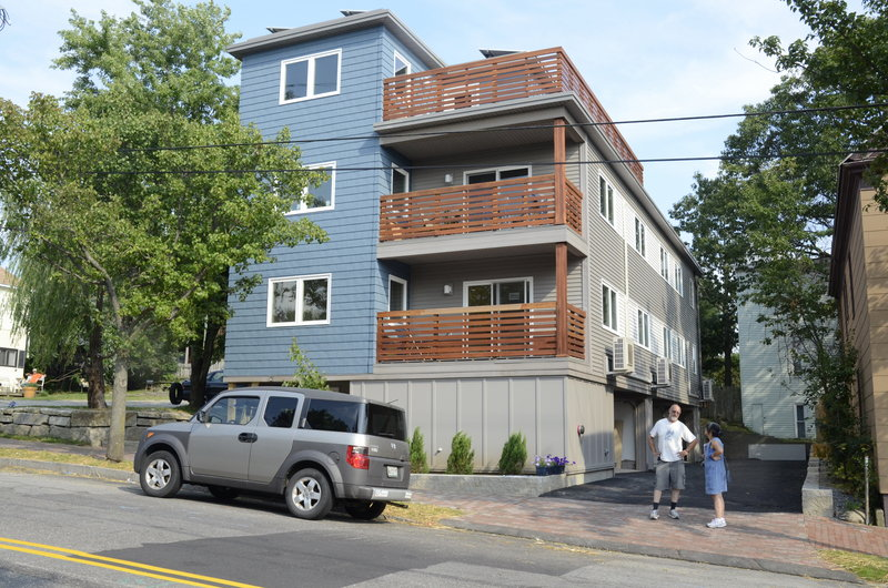 The energy efficient house that Paul Ledman and Colleen Myers built on Munjoy Hill fits into the neighborhood, but it has heat pumps, heat recovery ventilators, photovoltaic panels and more.