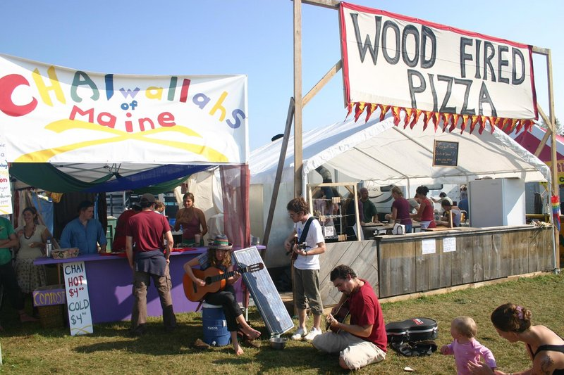 Chai Wallahs of Maine won the award for the best new food vendor at last year's Common Ground Country Fair, and the wood-fired pizza booth is always a popular stop.