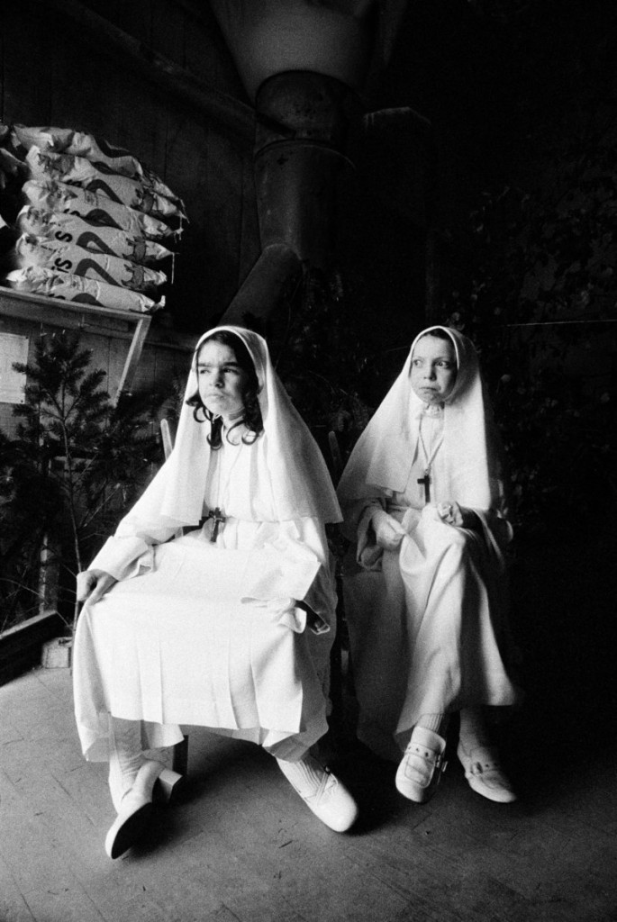 """""""Christine and Collette – First Communion,"""" 1947. Madeleine de Sinety has spent many years photographing the people and landscape of the Brittany region of France. Also in """"Madeleine de Sinety: Photographs"""" at the Portland Museum of Art are images she captured in Uganda and in rural Maine."""
