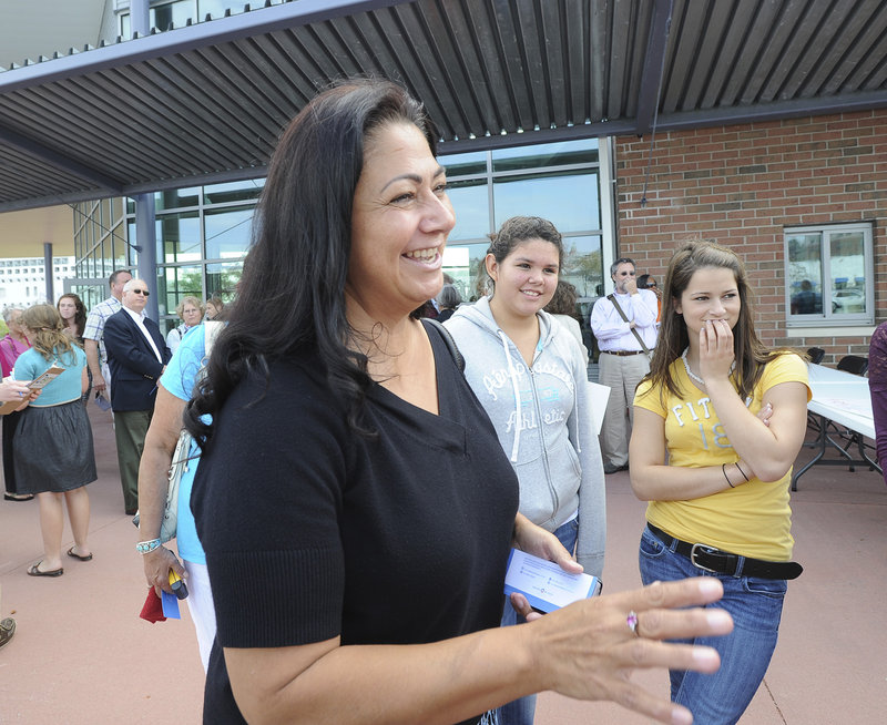 "Denise Altvater led a youth group from the Pleasant Point reservation in Washington County to listen to first lady Michelle Obama on Friday at Portland's Ocean Gateway. ""She was a dynamic speaker,"" said state Rep. Jeff McCabe, D-Skowhegan. ""As good as (President Obama), if not better."""