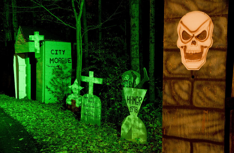 """A cemetery is the last """"haunt"""" on the Original Haunted Hayride in Scarborough."""